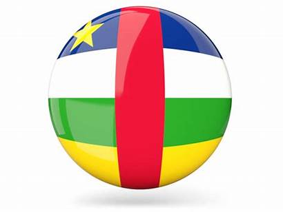 Republic Central African Icon Flag Round Glossy