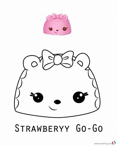 Num Noms Coloring Pages Strawberry Printable Nom