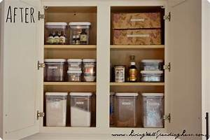 How to organize kitchen cabinets casual cottage for Organize kitchen cabinets