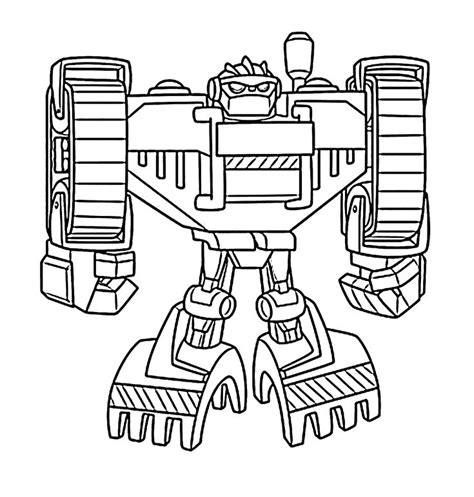 Rescue Bots Kleurplaat by Kleurplaten Transformers Rescue Bots Stick Bots Coloring