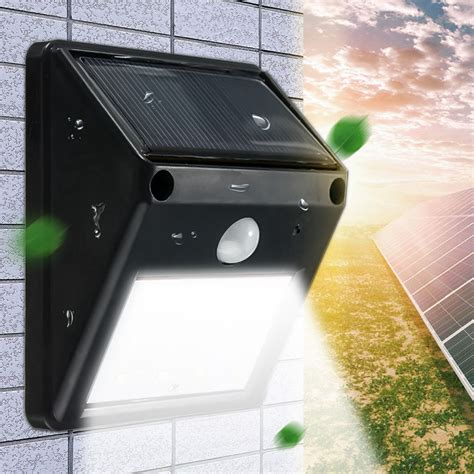 12 led waterproof ip65 solar powered wireless pir motion