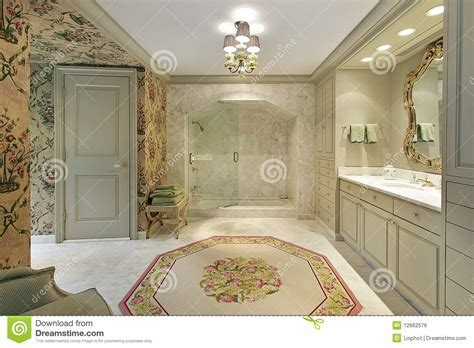 Luxury Master Bath With Marble Shower Royalty Free Stock Image Image: 12662576