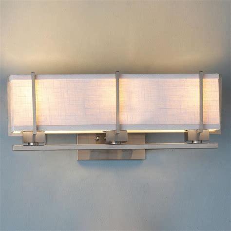energy linen box shade bath vanity light l