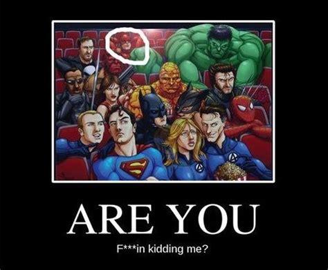 superhero funny captions marvel movies memes daredevil super comic batman jokes posts movie vs superman heros