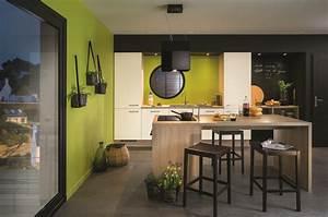 Ilot de cuisine et espace de repas, 2 en 1 Diaporama Photo