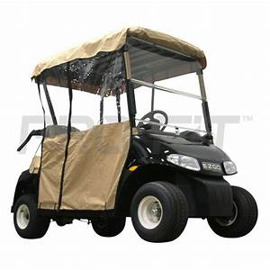 2 Passenger Enclosure For Ezgo Rxv Golf Carts In Tan