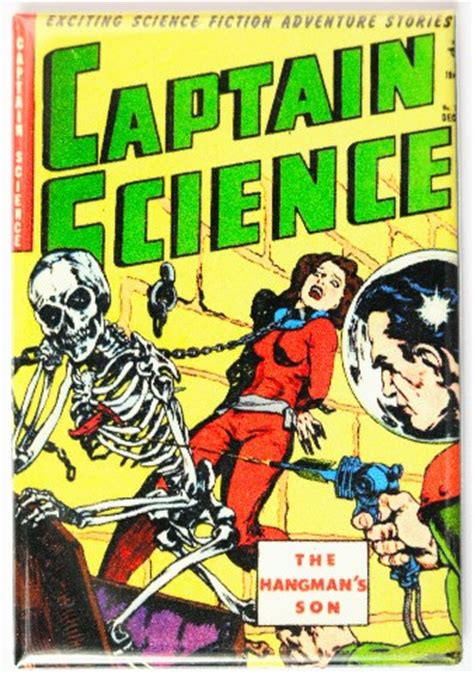 captain science comic book fridge magnet sci fi pulp