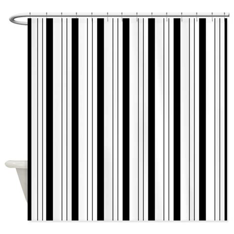 black and white striped curtains uk black and white stripes shower curtain by be inspired by life