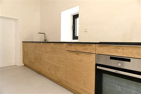 cuisine lineaire design cuisine lineaire en chene for interior living