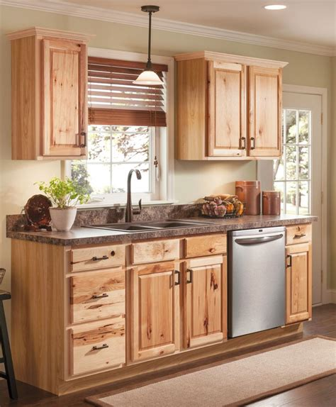 shaker doors lowes beautiful hickory cabinets for a natural looking kitchen