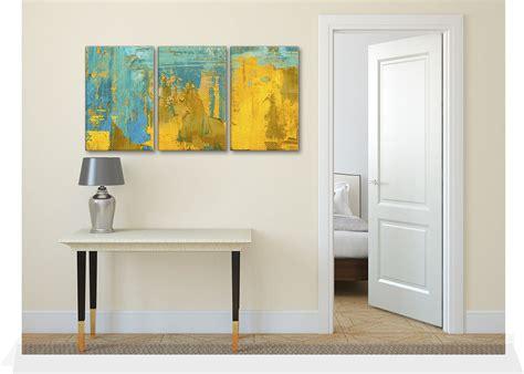 Pretty Teal Grey Yellow Wall Art Flower Appealing Kitchen