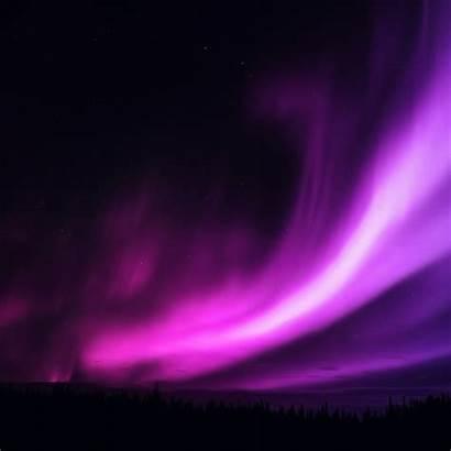 Sky Night Purple Aurora Ipad Star Dark