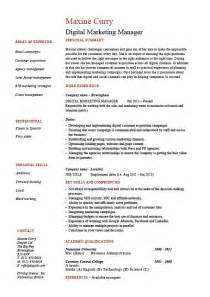 how to get resume layouts on microsoft word digital marketing manager cv template exle latest online vacancies salary employment agency