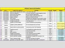 5 Product Backlog Template Excel ExcelTemplates