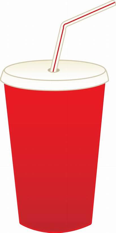 Cup Soda Pop Clip Drink Straw Soft