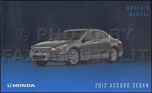 2012 Honda Accord Manual Book