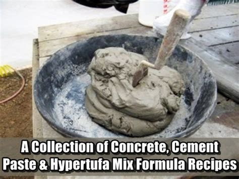 collection  concrete cement paste hypertufa mix