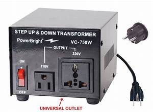 Power Bright Vc750w Voltage Transformer 750 Watt Step Up