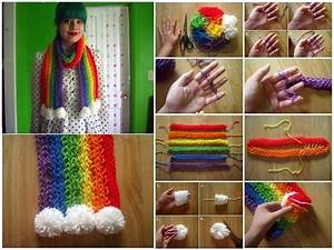 Easy To Make Finger Knitted Scarfs - DIY - Find Fun Art