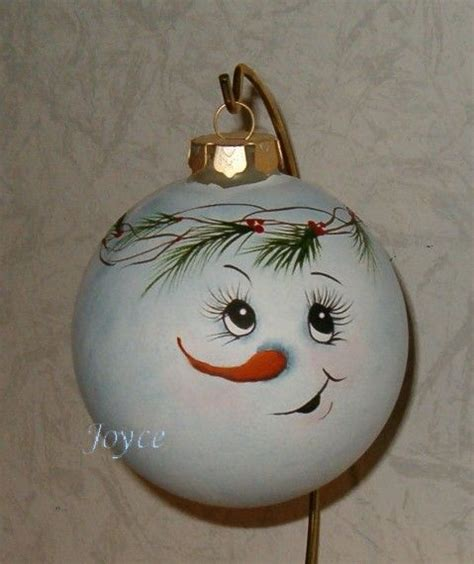 joyce s tole painting snowman ornaments christmas