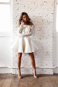 Robe Courte Mariée : robe mariage civil courte meryl suissa ~ Melissatoandfro.com Idées de Décoration