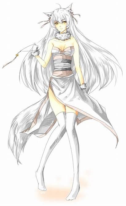 Fox Kitsune Anime Female Urusai Baka Lady