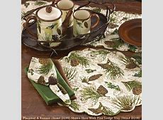 Walk in the Woods Pine Cone Quilted Table Linens