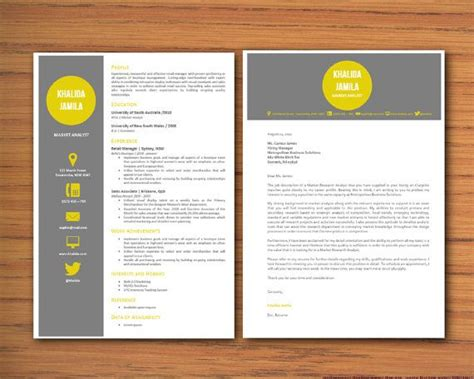 modern microsoft word resume  cover letter template