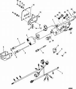Mercruiser Bravo One Steering Actuator  Axius  Sensors