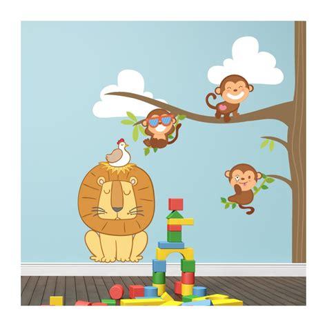 stickers chambre fille feerique cheap stickers chambre bb arbre et petits singes with