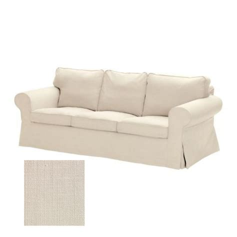 sofa cover ikea ikea ektorp 3 seat sofa slipcover cover svanby beige linen