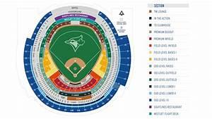 Blue Jays Stadium Map Toronto Blue Jays Seating Map Canada