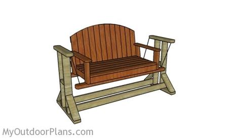 glider swing plans myoutdoorplans  woodworking
