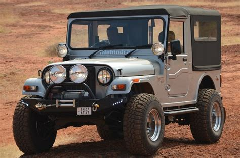open jeep modified in black colour mahindra thar jeep modified mahindra pinterest d and
