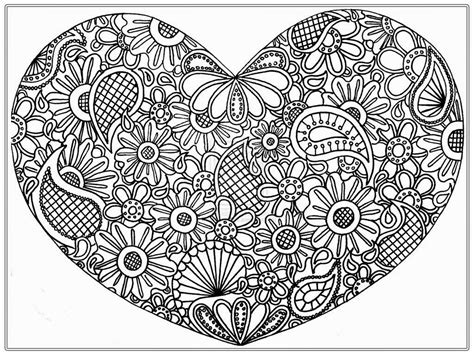 heart pictures  color  adult realistic coloring pages