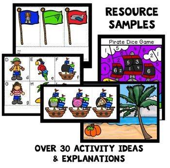 pirate theme preschool lesson plans by eceducation101 tpt 411 | original 3157777 3