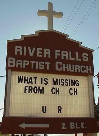 church signs    clever    good