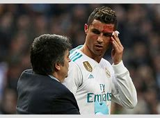 Cristiano Ronaldo checks himself out on phone during Real