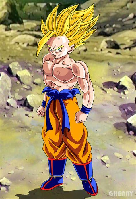 Dragon Ball Z Commission Gohan Super Saiyan By Ghenny