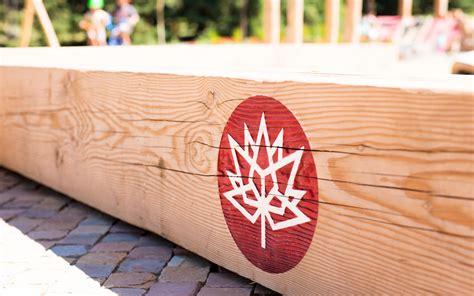 canada playground calgary natural custom wood bench
