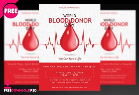 world blood donor day flyersocial media post
