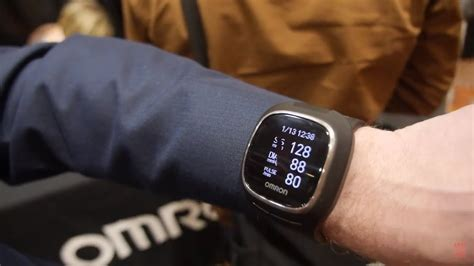 Omron Wrist BPM Smartwatch takes blood pressure on the