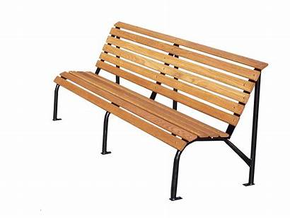 Bench Park Benches Commercial Wooden Transparent Oak