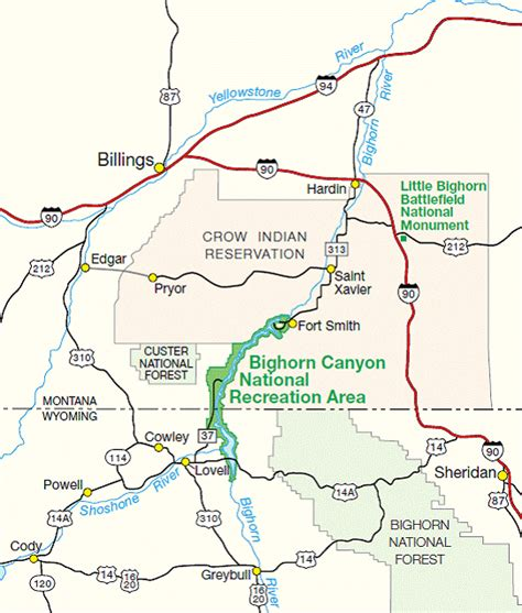 directions bighorn canyon national recreation area u s