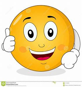 Cool Smiley Character With Thumbs Up Stock Vector ...