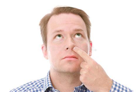 Nose-picking Stock Photo