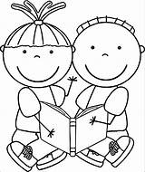 Coloring Reading Pages Printable Getcolorings Readi sketch template