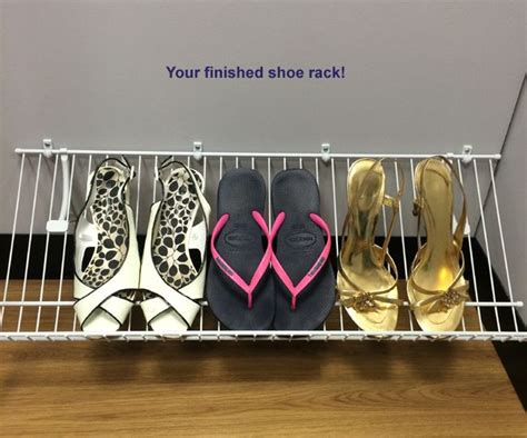 Installing Closetmaid Shelving by Closetmaid Shoe Rack Installation Read Our Tutorial On How