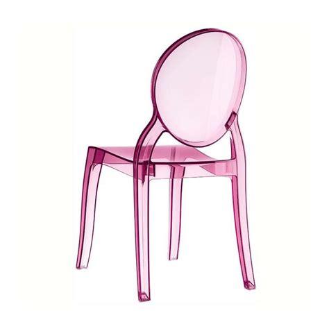 chaise plexi transparente chaise de style en polycarbonate transparent elizabeth