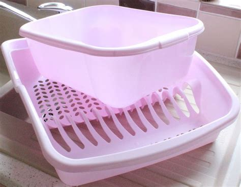 shabby chic dish drainer new pastel pink plastic dish drainer washing up bowl shabby chic kitchen sink in home